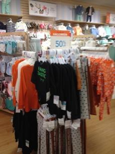 Lots of Halloween merchandise, 50% off.