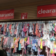 They had a huge clearance section.