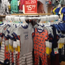 . . . and more PJs. The grey bike set and the orange set came together, so it was $12 for the two sets. I liked the bikes, maybe not so much the orange.