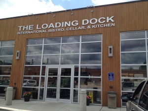 The front of The Loading Dock - plenty of parking!
