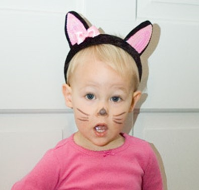So if your child wants to be a black cat put them in black pants a black sweater and tuck one of the tights legs into their ...  sc 1 st  momlifehacker & Halloween costumes u2013 make or buy?! Easy (make) and inexpensive (buy ...