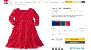 HA velour tutu twirl dress