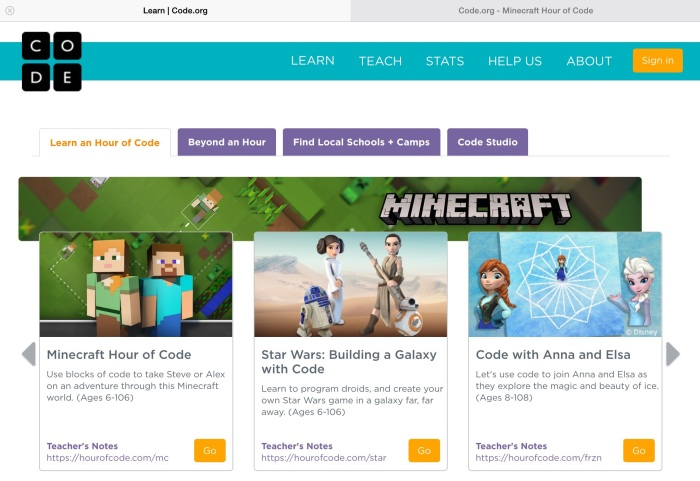The Hour of Code / introducing children to coding