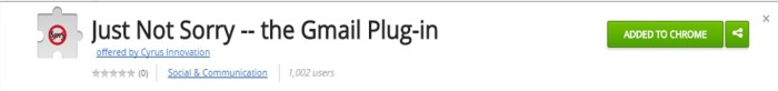 Just Not Sorry Gmail Plug-In