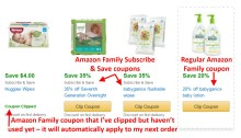 Amazon Family coupon examples
