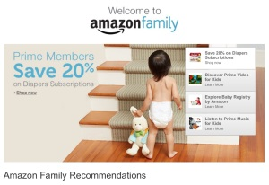 Amazon Family - save 20% on diapers with subscribe and save