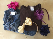 Gymboree and Crazy 8 clothing and hair accessories