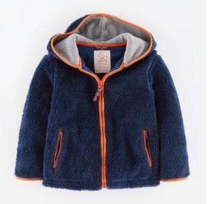 Mini Boden boys Sherpa hoodie