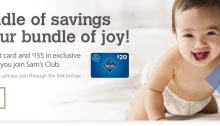 Sam's Club New Moms membership discount