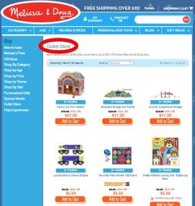 Melissa & Doug outlet store online