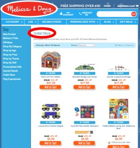 Melissa & Doug outlet store online