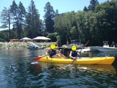 double kayakers