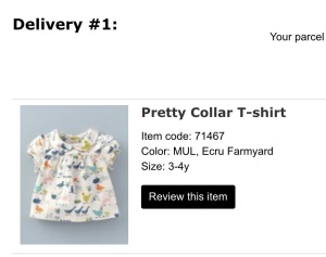 Baby Boden Pretty Collar T-Shirt, Ecru Farmyard