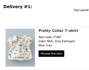 Baby Boden Pretty Collar T-Shirt, Ecru Farmyard