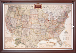 Personalized Pin Your Journeys United States Map - Father's Day Gift