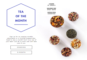 Teavana Tea of the month subscription - Father's Day gift ideas